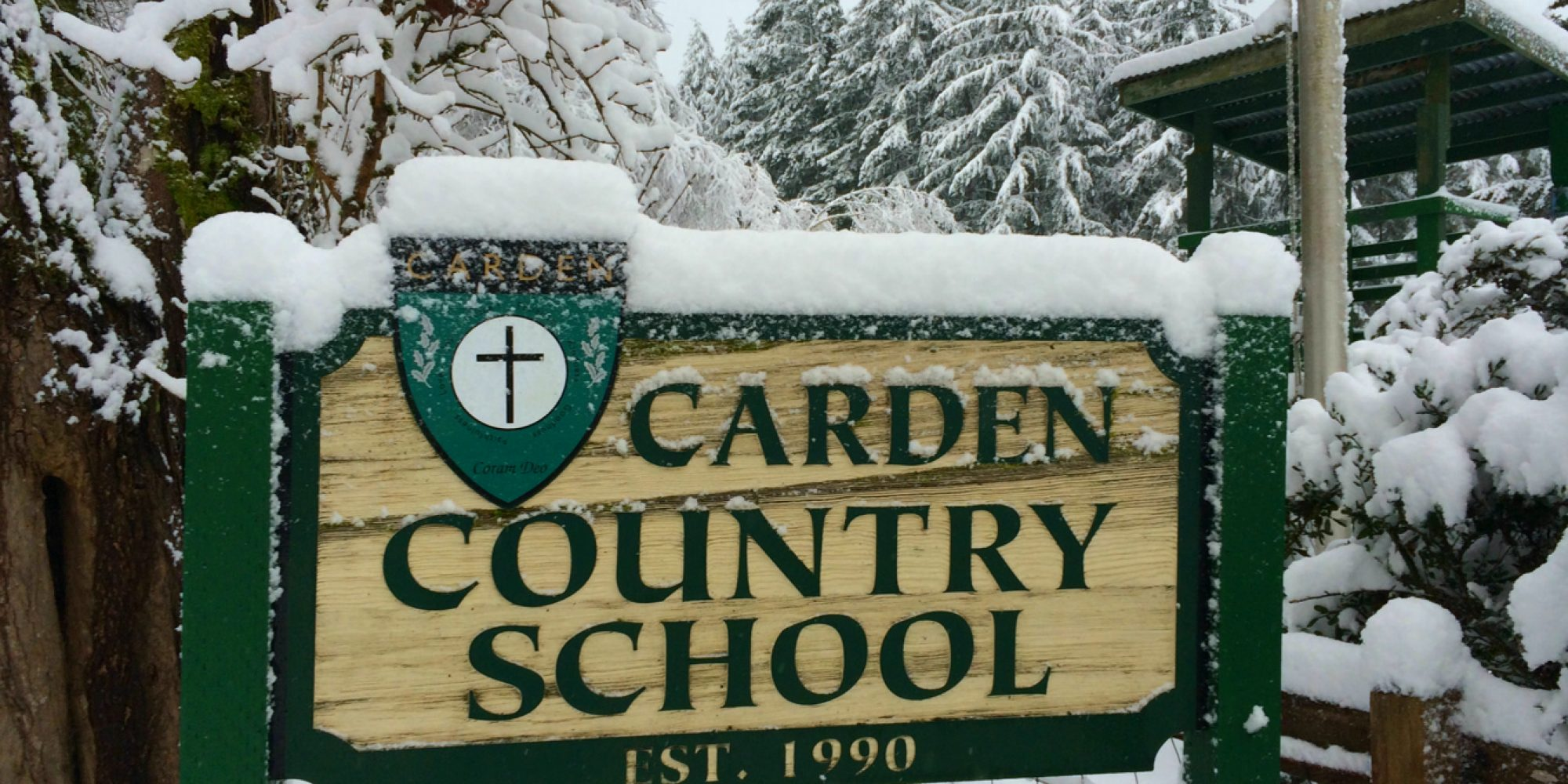 Winter Sign At Carden Sm